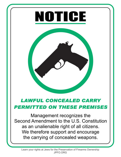 Sign, sign everywhere a sign... - Concealed Carrying & Personal Protection